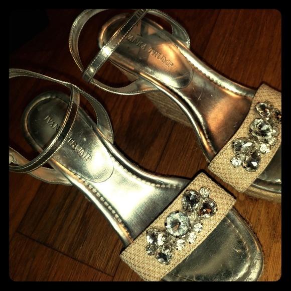 Ivanka Trump Shoes - Bling wedges